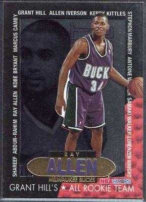 96-97 HOOPS GRANT'S ALL ROOKIES #2 RAY ALLEN