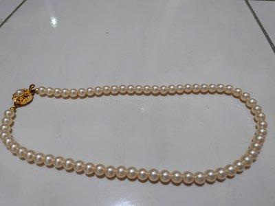 天然米白色珍珠項鍊