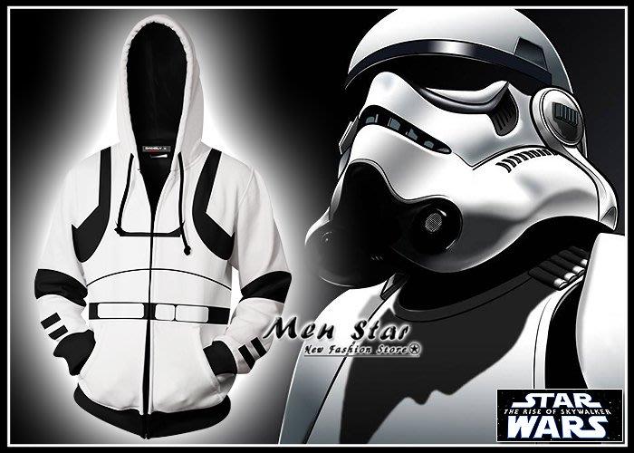 【Men Star】免運費 STAR WARS 天行者的崛起 彈力運動外套 黑武士 風暴兵 芮 角色扮演 COSPLAY