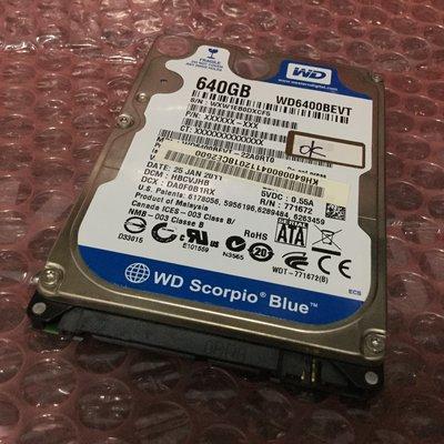 WD 2.5吋 640GB NB用硬碟~1GB一元起 新竹縣