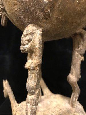 早期船員帶來台灣交易非洲古董銅花器超過百年