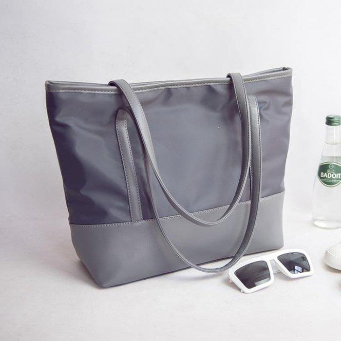 女包尼龍帆布包簡約防水牛津布休閒單肩包手提大包包