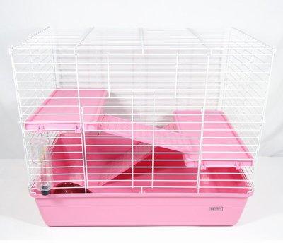 【優比寵物】豪華三層(3層)寵愛天竺鼠籠.兔籠(粉紅色)NO.H402規格:69*44.5*60(公分)(長寬高)優惠價