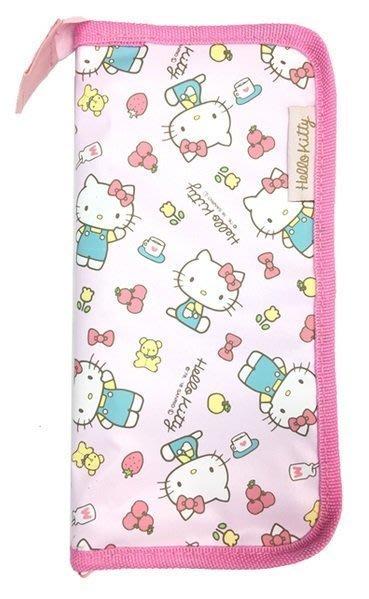 日本 Hello Kitty 凱蒂貓 嬰幼兒 餐具收納袋 餐具收納包-粉色款