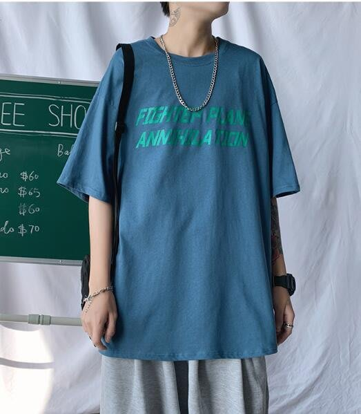 FINDSENSE X 男款 時尚 寬鬆舒適 男裝寬 中性休閑情侶大碼 短袖T恤男