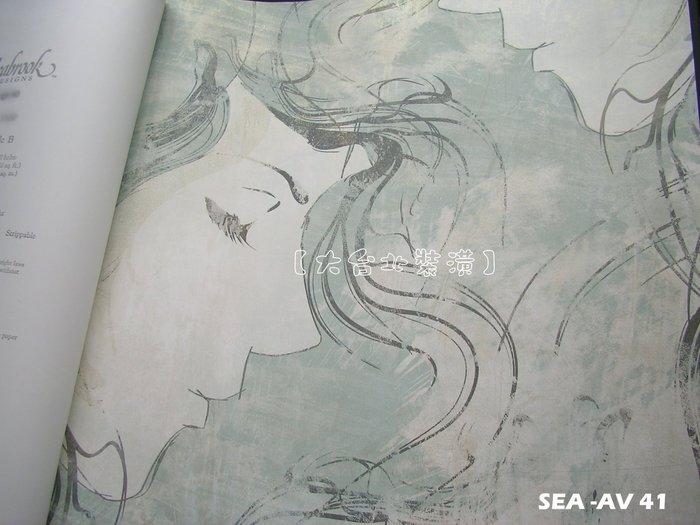 【大台北裝潢】美國Seabrook進口壁紙AV* Chadwick 優美藝術人臉(4色)