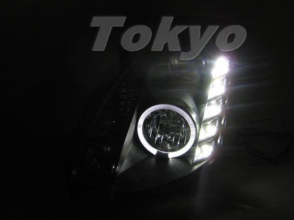 @Tokyo東京車燈部品@INFINITI G35 2D COUPE 類R8 LED燈眉光圈魚眼黑底大燈一組16000