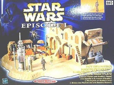 [ 進口 絕版 星際大戰 Star Wars-集市場 ]-場景品 互動劇場 戰地模型.
