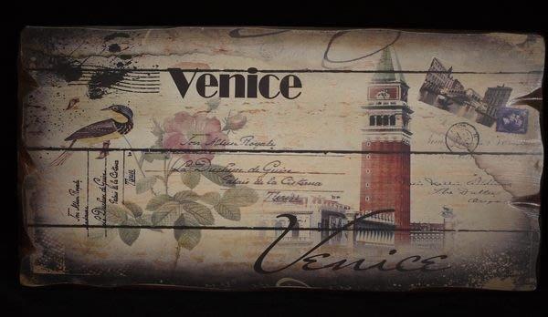 【布拉格歐風傢俱】英倫風復古木板畫 venice風情 掛飾 店面 民宿 裝飾 收藏 禮物