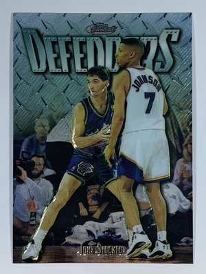 1997-98 Topps Finest Uncommon Embossed Silver John Stockton