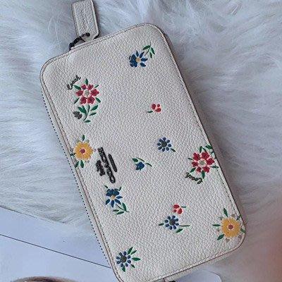 【八妹精品】COACH 1103新款女士小碎花 女式單肩背包 斜跨包側背包 女包