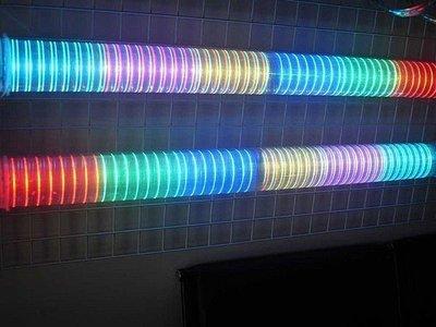 ☆led七彩六段式可串聯數碼燈管5*100cm! 共48種變化,檳榔攤,旅館,超省電,超炫 彩券行