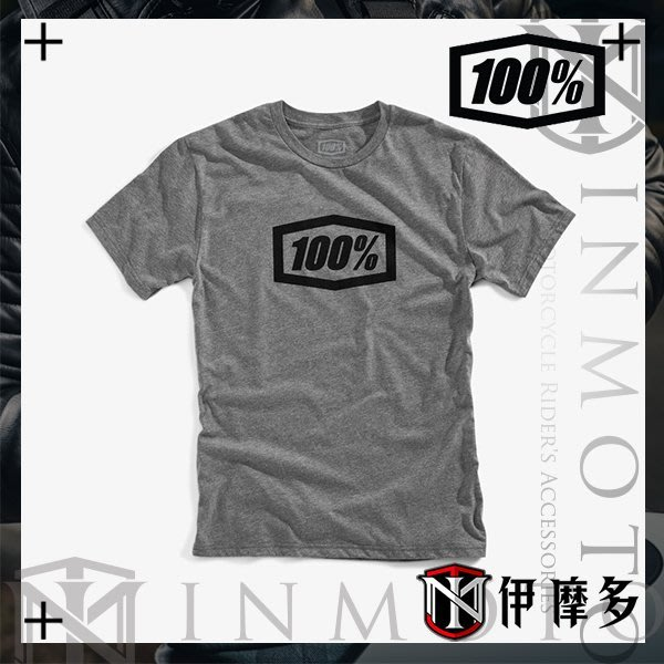 伊摩多※美國Ride 100% TEE ESSENTIAL 男款經典短袖 T恤 T-Shirt 灰 32016-025