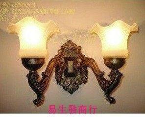 【易生發商行】直銷 歐式風格 鋅合金鐵藝 雙頭壁燈 過道 床頭鏡前燈F5958