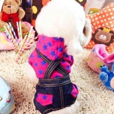 寵物衣 休閒狗狗衣服-帥氣可愛星星背帶褲寵物用品3色73ih13[獨家進口][米蘭精品]