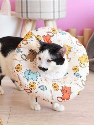 防水不粘毛伊麗莎白圈狗貓恥辱圈防舔項圈寵物頭罩頭套防咬圈用品