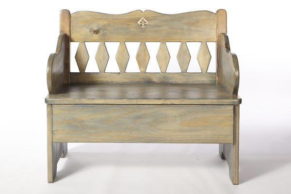 原木工坊~~(原木手工傢俱訂做)歐式鄉村休閒椅 下座還可收納喔~