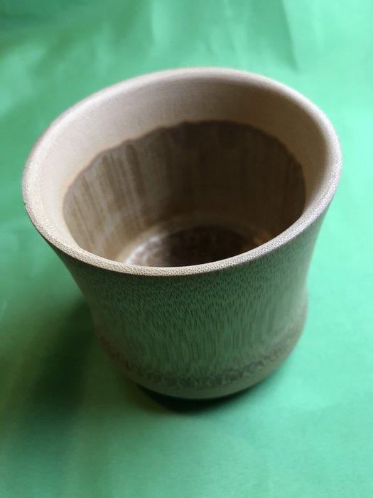 直徑9CM孟宗炭化竹杯(底部有角度)-S93-BC55
