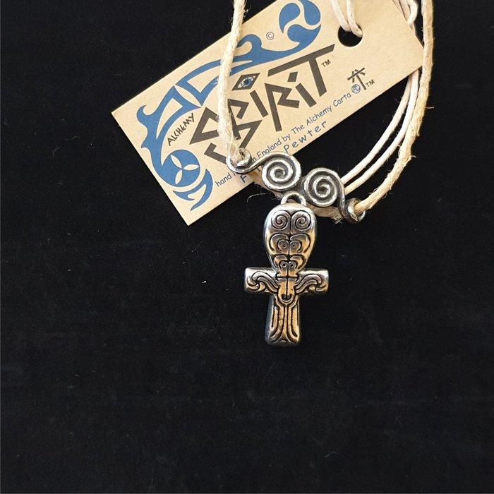ONE*$1~英格蘭*ALCHEMY*鍊金術-SpiRiT-1996《古神像吊墬 》錫金屬*手工製品