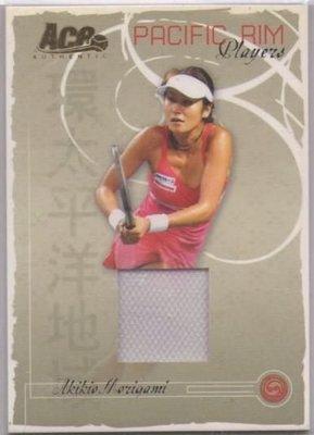 網球 2006 ACE Grand Slam 日本球星 森上亞希子 Akiko Morigami 少見球衣卡~~