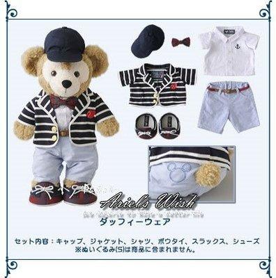 Ariel's Wish-日本Tokyo東京Disney迪士尼Duffy英倫學院風條文款坐姿S號衣服帽子五件組-現貨*1