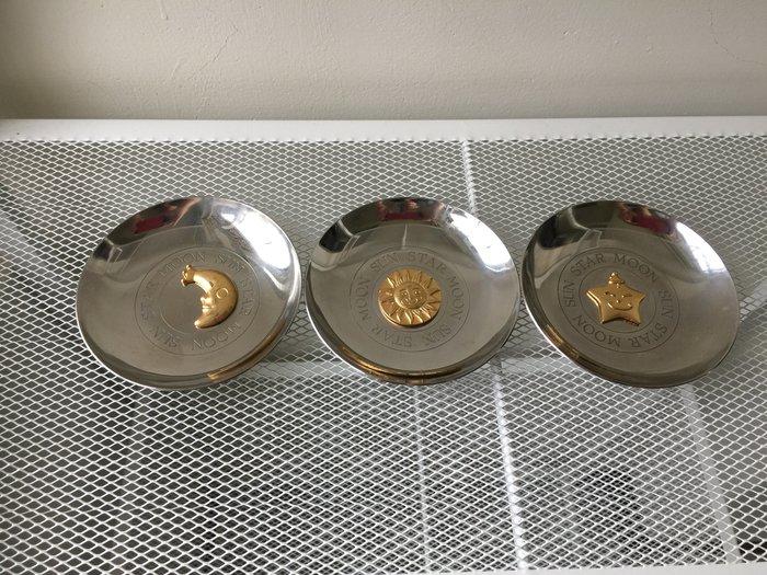 8-8 不銹鋼 收納盤 置物盤  珠寶盤  飾品盤 (星星+月亮+太陽)