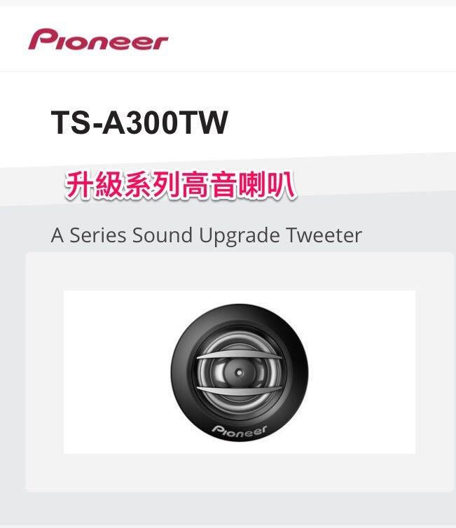 [欣泰汽車音響] Pioneer 先鋒 TS-A300TW升級高音 20mm