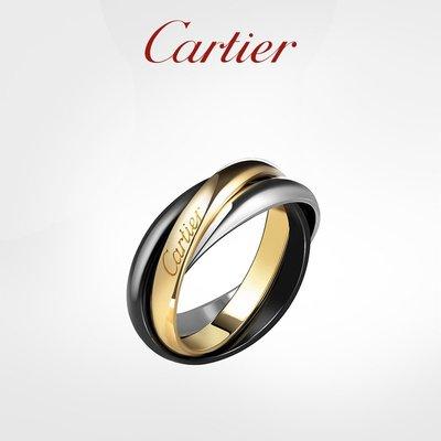 Cartier卡地亞Trinity系列全新戒指 黃金白金精密陶瓷 明星同款氣質