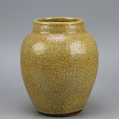 ㊣姥姥的寶藏㊣北宋哥窯開片小條形罐 仿古瓷 老貨舊貨 民間收藏 古玩