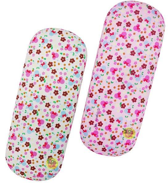 【JPGO日本購】特價-日本進口 迪士尼 米妮碎花眼鏡盒~顏色隨機出貨#831