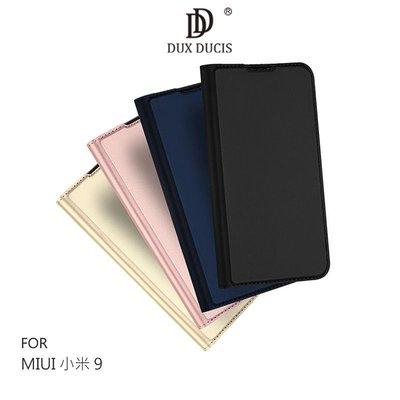 --庫米-- DUX DUCIS MIUI 小米9 奢華簡約側翻皮套 可站立 可插卡 保護套