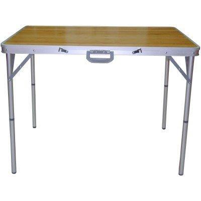 *大營家桌椅*DJ-7368 鋁框折疊竹板桌(中)~~露營.休閒.家用最佳配備