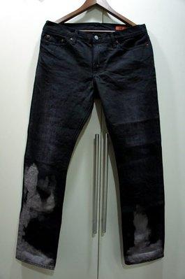 Made in USA.全新JEAN SHOP黑色渲染牛仔褲.限量版.Levi's可參考dsquared2.DIESEL