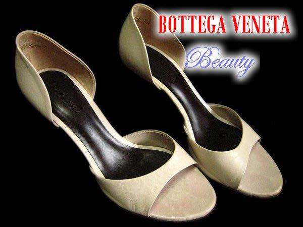 *Beauty*BOTTEGA VENETA咖啡色編織鞋跟 37號