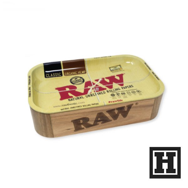 [H Market] 西班牙 RAW Cache Box 鐵盤收納箱 木箱 收納盒 工具盒 手捲菸 Pipe Joint