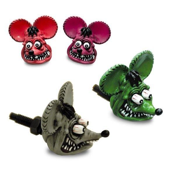 (I LOVE樂多)人氣代表性商品RAT FINK RF 老鼠芬克 牌架螺絲4種顏色 mooneyes