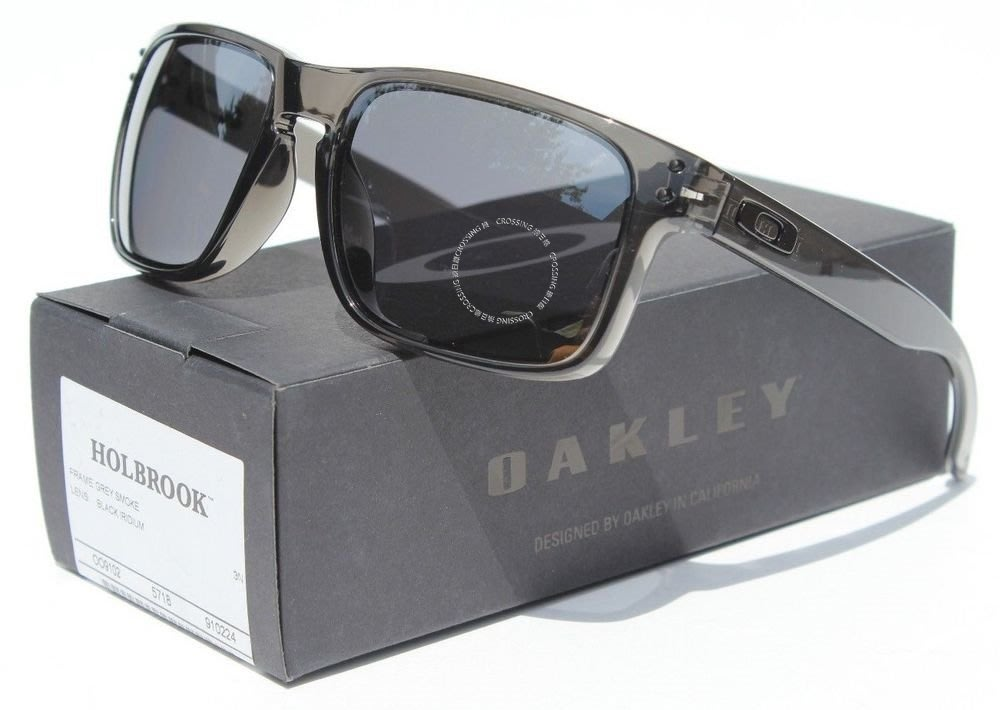 24ca41e248 OAKLEY Holbrook太陽眼鏡灰色煙霧 黑色銥新OO9102-24