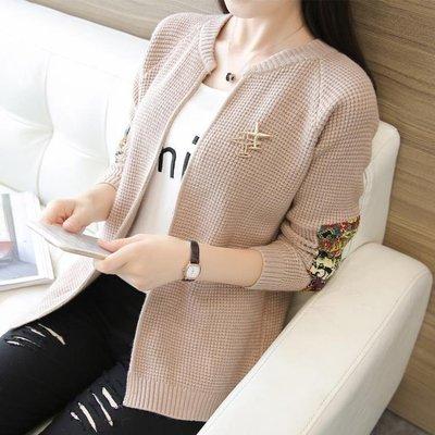 ZIHOPE 慵懶風上衣女短款外套女秋裝新款超火開衫毛衣針織衫ZI812