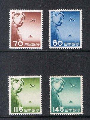 【雲品】日本Japan 1953 Sc C39-C42 set Air mail MH 庫號#66223