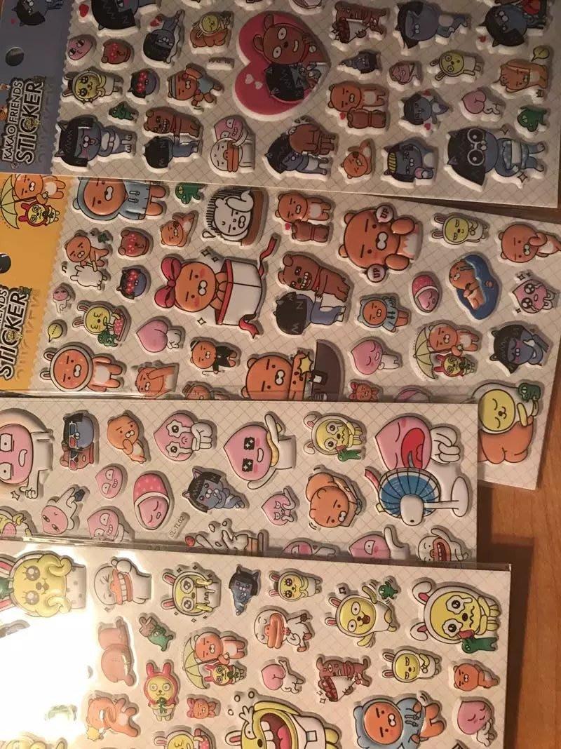 KAKAO FRIENDS卡考創意可愛裝飾貼紙日式手帳DIY相冊日記貼