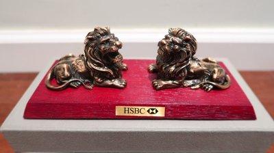 HSBC 滙豐銀行獅子像座檯