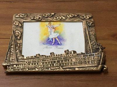 鐵達尼 titanic  金屬 相框 擺飾 3*5相片 (金色)