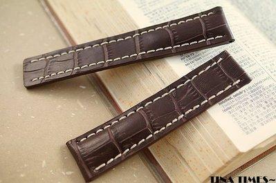 TINA TIMES ~向名品行最敬禮_GISELLE專為百年靈BREITLING訂製專用錶帶 摺疊扣使用款 24mm 22mm