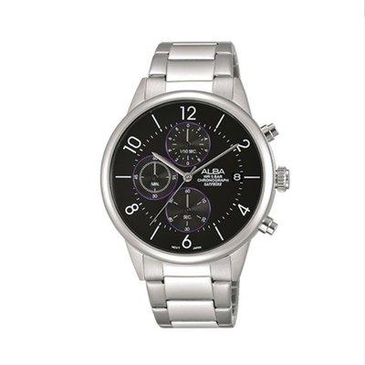 可議價「1958鐘錶城」ALBA雅柏 PRODUCT 男 三眼計時 石英腕錶(AM3335X1) 40mm