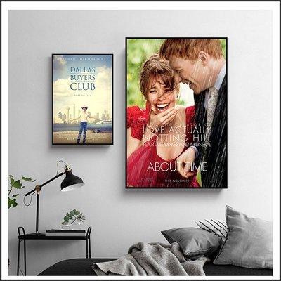 日本製油畫布 電影海報 真愛每一天 About Time 藥命俱樂部 掛畫 嵌框畫 @Movie PoP 賣場多款海報~