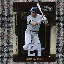 Deion Sanders 2008 Prime Cuts 名人堂雙棲球星 洋基隊時期 限量75張雙球衣卡 no簽名