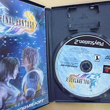 明星錄*2002年美國版FINAL FANTASY X二手遊戲光碟=附英文操作手冊(k392)