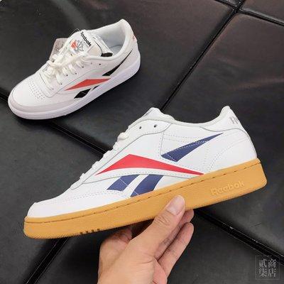 (貳柒商店) Reebok Club C 85 男款 白色 焦糖底 復古 大Logo 休閒鞋 小白鞋 EF8841