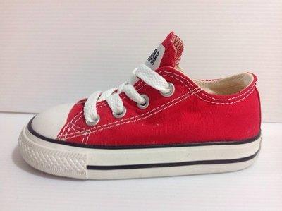 CONVERSE ALL STAR 北鼻/小童 經典款時尚帆布鞋 12cm~17cm -紅色