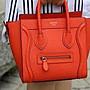 正品 Celine nano  橘色  Luggage 囧包 微笑包 笑臉包